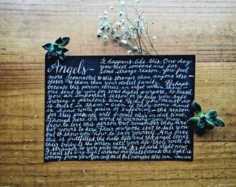 Lang Leav Calligraphy Angel Poem