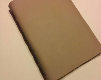 Hand bound leather sketchbook