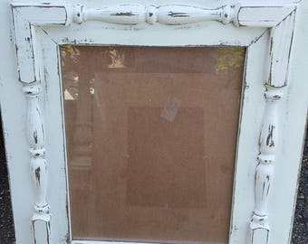 Rustic, Distressed, Shabby Chic Decorative Spindle Picture Frame 16x20, 18x24