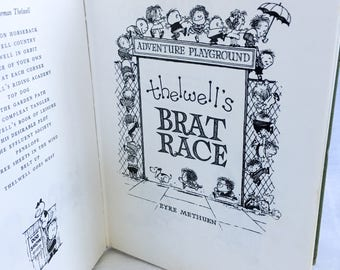 1977 Norman Thelwell's Brat Race Harcover Cartoonist Parenting Book