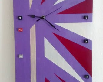 canvas picture wall clock