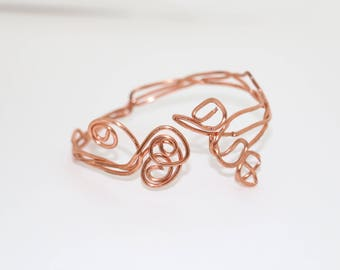 Handcrafted Copper Wire Bracelet