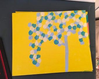 Blue tree canvas art