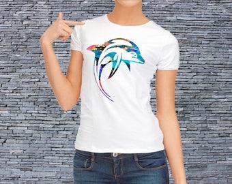 Dolphin t-shirt - Dolphin tee - Sea shirt - Women's art t-shirt
