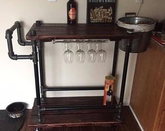 bar cart, wine cart, custom bar cart,