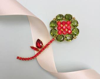 Olive Flower Brooch