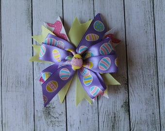 SALE Purple Easter Egg Bow