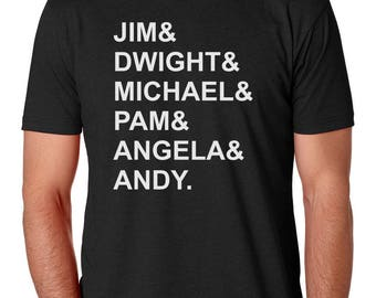 Jim And Dwight And Michael Mens Shirt by Brain Juice Tees