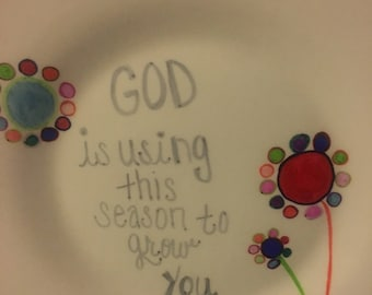Scripture personalized plate