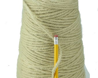 Custom Beige 3/8 3 ply 100% Wool from New Zealand  (10 pounds)