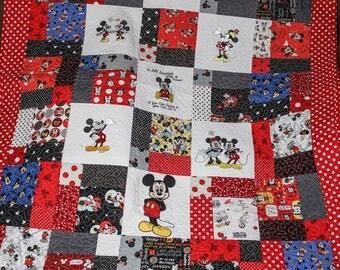 Disney Mickey Mouse handmade quilt