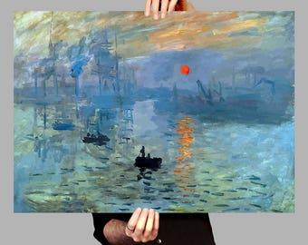 Poster 50x70 cm Sunrise - Claude Monet Digital