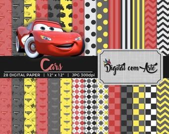 Cars Disney Digital Paper