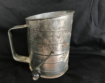 Antique Bromwell's 4 cup Measuring Sifter