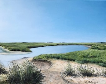 Cape Marsh, Provincetown, 16x12 Oil Painting by Zata Palange