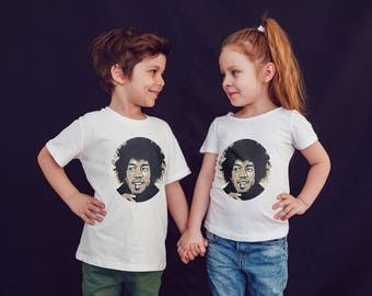 Jimi Hendrix Kids Shirts Kids tshirt Toddler Shirt Gift For Kids Rock Shirts Kids Shirt Kid T-Shirt Boys Top Girls Top Rock Kids Clothes