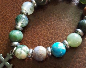 Earth and Sea beaded bracelet