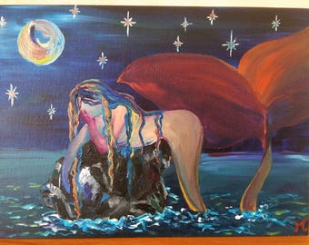 "Acrylic table ""Boredom under the Moon"""