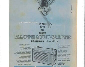 Advertising 50s radio CLARVILLE the smaller positions high musicality compact