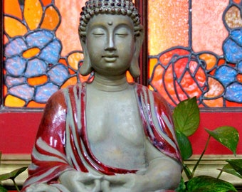 Buddha Stained Glass Photo, printable for cards, website, blog, Yoga,  meditation, Cape Cod, stock photo, business card, design,
