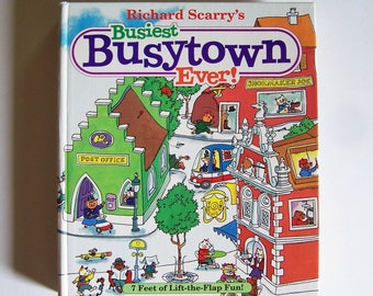 Richard Scarry's Busiest Busytown Ever - Interactive Board Book - Children's Book - Richard Scarry