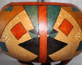 Southwest Geometric Gourd