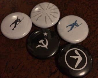 "CLASSIC DETROIT TECHNO 1"" Button Set - Drexciya, Dopplereffekt, Aphex Twin"