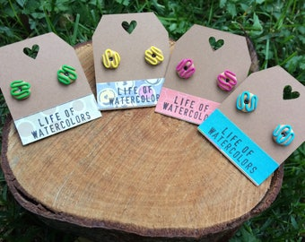 Doughnut earrings (4 designs) / / remaining Donuts (4 models)