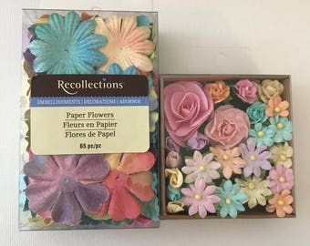 Scapbook paper flowers