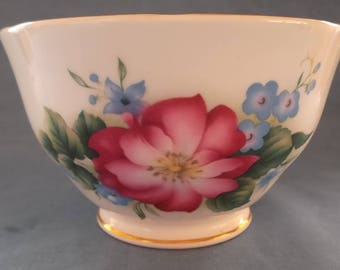 Vintage 1980s Sugar Bowl Duchess China with Floral Colours in Bone China Vintage Tea Party