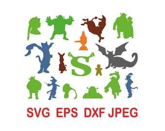 Shrek.svg,eps,dxf,png.