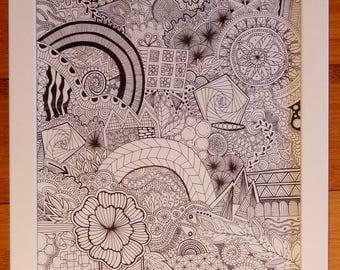 Decorative design: hand made Zentangle