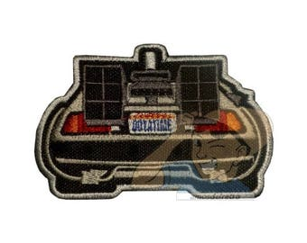 Back to the Future Delorean End Movie Embroidered Patch Marty McFly Dr Brown