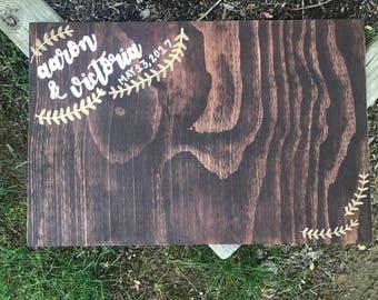 Wedding Guestbook Wooden Sign, Wedding Sign, Guestbook