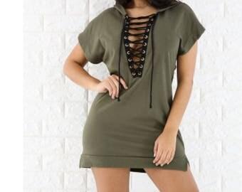 Hoodie Corset Dress