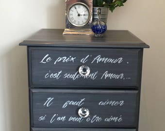 French Provincial Bedside Drawers