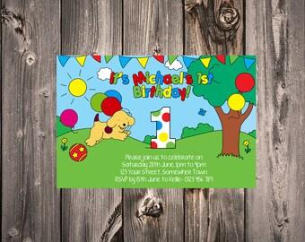 Spot the Dog birthday party invitation: Digital File, print yourself