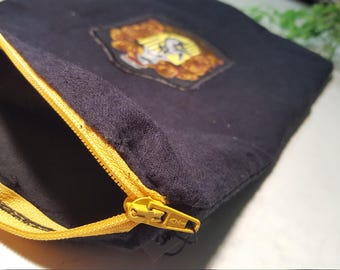 Harry Potter Hufflepuff Patch House Team Pouch With Zip