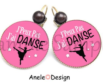 Ballerina dance earrings - pink