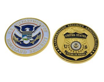 USA Federal Air Marshall Services(FAMS) Homeland Security Transportation Security Administration (TSA) Police Shield Challenge Coin