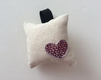 Wrist pincushion hand embroidered