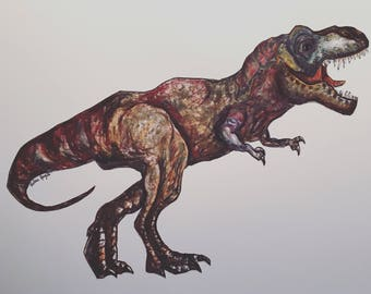 Hand Drawn T-Rex Illustration