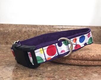 Polka Dot Ribbon Dog Collar