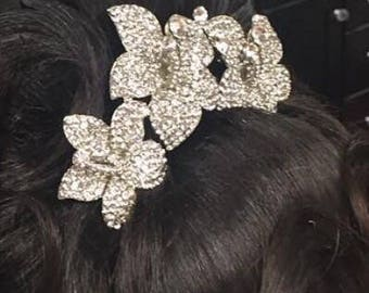 Hair comb silver