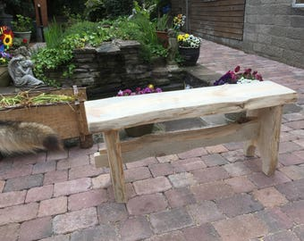 Rustic two seater bench