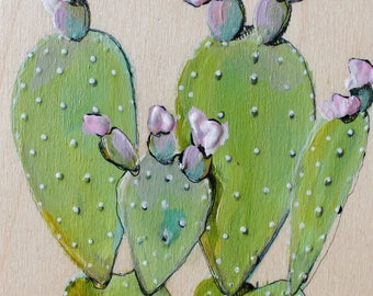 Green Cactus flash and pink flowers