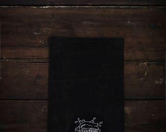 Waxed cotton Ipad/tablet sleeve.