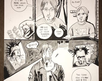 Zombie comic portraits