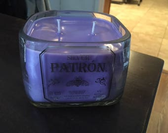 Patron bottle soy wax candle jasmine