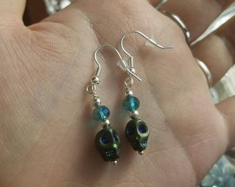 Glass Skull Earrings